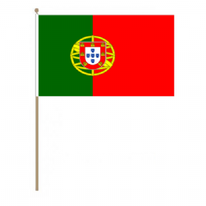 Portugal Country Hand Flag, large.